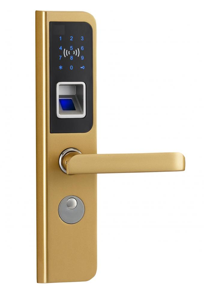 Bright Chrome RFID Fingerprint Door Locks with CE and FCC certificates
